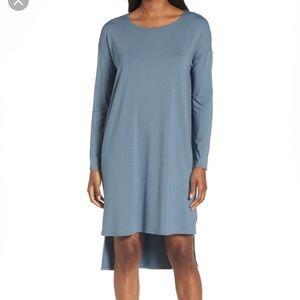 Eileen Fisher High Low Viscose Jersey Dress